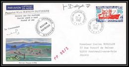 2228 ANTARCTIC Terres Australes TAAF Lettre Cover Dufresne N°66 OP 80/2 Signé Signed 22/2/1980 Aquarelle Main Handmade - Storia Postale