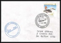 0777 AAT 1988 Lettre (cover) Australian Antarctic Territory (australie) GERMAN ICEBIRD - Covers & Documents