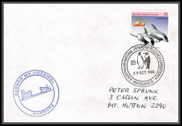 0784 AAT 1988 Lettre (cover) Australian Antarctic Territory (australie) GERMAN ICEBIRD - Covers & Documents