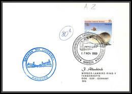 0794 AAT 1989 Lettre (cover) Australian Antarctic Territory (australie) GERMAN ICEBIRD HAMBURG - Covers & Documents