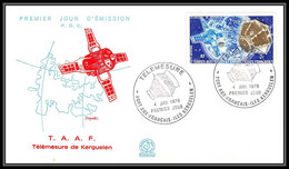 0029 Taaf Terres Australes Antarctic Lettre (cover)pa N° 49 Telemesures Lettre (cover) 04/01/1978 KERGUELEN - Storia Postale