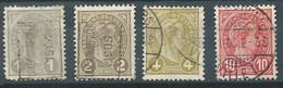 Luxembourg YT N°69-70-71-73 Grand-Duc Adolphe 1° Oblitéré ° - 1895 Adolphe Rechterzijde