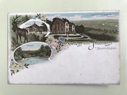 Gruss Von Jagdhaus Baden-Baden. Cromolithographie - Baden-Baden