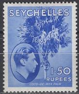 Seychelles - Definitive - 1.50 R - KGVI - Mi 143 - 1938 - Seychelles (...-1976)