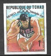 Tchad N° 203 Non  Dentelé JO Mexico Lancer Du Poids Randy Matson  Neuf  ( *  )  B/TB  Soldé  Le Moins Cher Du Site ! ! ! - Atletica