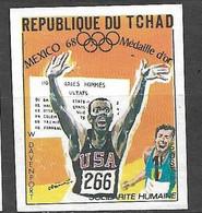 Tchad N° 205 Non Dentelé JO Mexico 110 Mètres Haies Willie Davenport Neuf  (*)  B/TB  Soldé  Le Moins Cher Du Site ! ! ! - Atletica