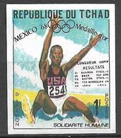 Tchad N° 206 Non Dentelé JO Mexico Saut En Longueur Bob Beamon Neuf  (*)  B/TB  Soldé  Le Moins Cher Du Site ! ! ! - Atletica