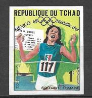 Tchad N° 189 Non Dentelé JO Mexico 400 Mètres  Colette Besson Neuf (*)  B/TB  Soldé  Le Moins Cher Du Site ! ! ! - Atletica
