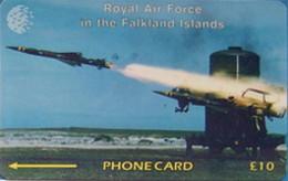 FALKLANDS : 059A L. 10 RAF Regiment Rapier USED - Falklandeilanden
