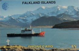 FALKLANDS : 005A L.5 The RRS BRANSFIELD 1/71 USED - Falklandeilanden