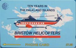 FALKLANDS : 002A L.7.50 BRISTOW HELICOPTERS USED - Falklandeilanden