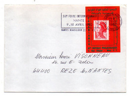 1982--Lettre De NANTES BEAUSEJOUR - 44 Pour REZE LES NANTES--type Liberté--Maroc--Foire De Nantes - 1961-....