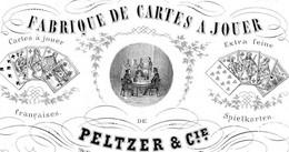 Porseleinkaart FABRIEK Anno 1855 - Cartes à Jouer PELTZER & Cie à MAASTRICHT Litho Bindels-Huck 11,5x7,5cm - Andere