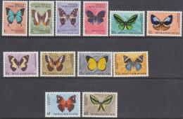 PAPUA NEW GUINEA, 1966 BUTTERFLIES 12 MNH - Papoea-Nieuw-Guinea