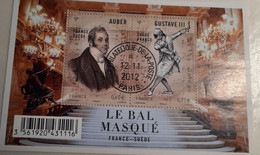 FRANCE Bloc Feuillet N°4706 De 2012 Le Bal Masqué Oblitéré 1er Jour Avec Gomme - Afgestempeld