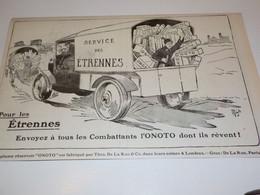 ANCIENNE PUBLICITE ETRENNES  PORTE PLUME ONOTO 1915 - 1914-18