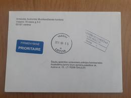 Lithuania Litauen Cover Sent From Varena To Siauliai 2011 - Lituania