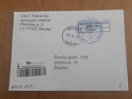 Lithuania Litauen Cover Sent From Siauliai To Siauliai 2011 - Lituania