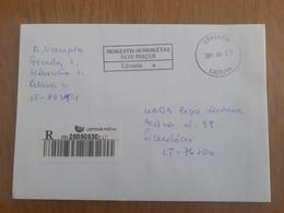Lithuania Litauen Cover Sent From Uzventis To Siauliai 2011 - Lituania