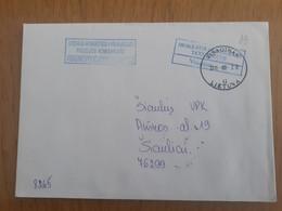 Lithuania Litauen Cover Sent From Visaginas To Siauliai 2011 - Lituania