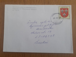 Lithuania Litauen Cover Sent From Veliucionys To Siauliai 2011 - Lituania