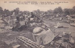 Champ De Bataille Char Tank Renault FT-17 Après La Bataille - Guerra 1914-18