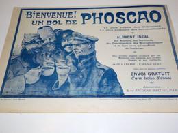 ANCIENNE PUBLICITE BIENVENUE UN BOL DE PHOSCAO  1915 - 1914-18