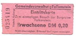 Toegangskaart Eintrittskarte - Burgruine Falkenstein - Eintrittskarten