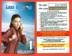 Kazakhstan. Phonecards.Pre-payment Card. Lux Telecom. - Moda