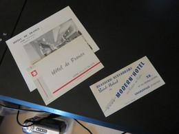 Cartes De Visite D' HOTEL ,LENS ET CHARLEVILLE - Visitekaartjes