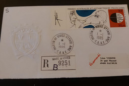 TAAF FDC 1985 Oeuvre De Tremois PA 89 Sur Pli Recommandé. - FDC