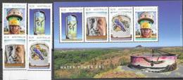 AUSTRALIA, 2020, MNH,ART, WATER TOWER ART, BIRDS, LIZARDS, REPTILES, 4v+SHEETLET - Sonstige