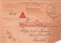 Nachnahme: Echternach 18.09.43 - Remich 20.09.43 - 1940-1944 German Occupation