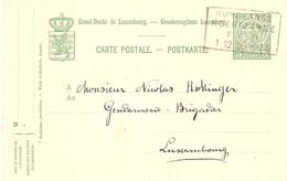 Postkarte - Bahnpost Rumelange-Noertzange 01.12.1909 - Enteros Postales