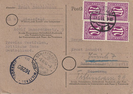 Allemagne Bizone Carte Censurée Bielefeld Pour La Suisse 1946 - Bizone