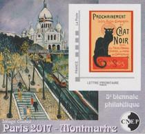 CNEP N° 74 De 2017 - Bloc Autoadhésif - Salon De Printemps, 5 ème Bienale Philatélique, Butte Montmartre à Paris - CNEP