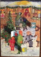 Cp Double De 1997, Avec 24 Fenêtres, Noël, Illustrateur Signée D.Wittmann, (Village D'Enfants SOS De France) - Otros Ilustradores