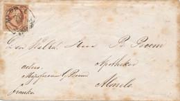 Nederland - 1868 - 10 Cent Willem III 1e Emissie, Op Envelop Van HRF-C MEPPEL Naar Almelo - Brieven En Documenten