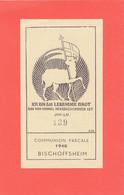 AC - (C)  Image Pieuse Du Couvent Du Bischenberg (Bischoffsheim) - Collée Sur Support  Envoi Gratuit - Andachtsbilder