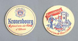 Brasserie Kronenbourg, Bière D'Alsace (Sous-bock Beer Mat Coaster Bierdeckel Bierviltje) - Sotto-boccale