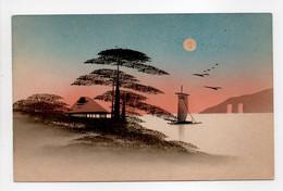 - CPA JAPON - Vue Sur Le Mont Fuji (belle Carte Aquarellée) - - Altri