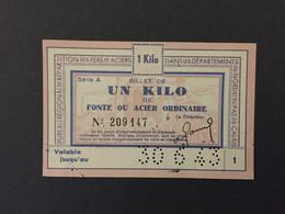 Billet Matiere - Acier - 1 Kg - Buoni & Necessità
