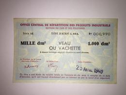 Billet Matiere - Section Du Cuir - 1000 Dm² - Buoni & Necessità