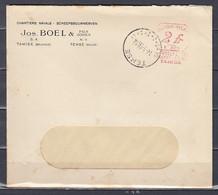 Brief Van Temse Chantiers Navals Scheepsbouwwerven Jos.Boel - ...-1959