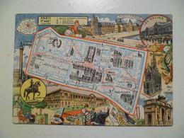 Carte Postale / Les Arrondissements De PARIS Illustrés - Mapas