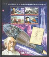 XZ0012 2017 SPACE SCIENTIST 160TH ANNIVERSARY TSIOLKOVSKY KB MNH - Altri