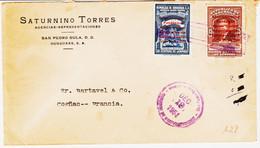 Honduras ,  De San Pedro En 1951 Sur Deux Tp Surcharges : Commem Fondation Banque Centrale  TB - Honduras