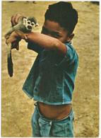 Hindoestaanse Jongen Met Aapje (Surinamekaarten Serie K. No 1.) - Surinam