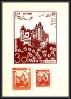 85591/ Carte Maximum Grève De Saumur 1953 Essai Chateau Castle - Strike Stamps