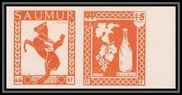 85520/ Grève De Saumur 1953 Essai Non Dentelé Imperf Cheval Horse Paire Se Tenant - Strike Stamps